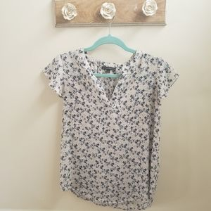 Adrianna Papell Floral Blouse